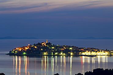 Village of Primosten at night, Adriatic Coast, Croatia