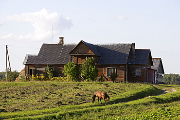 Farmhouses in the area of Trakai, Lithuania