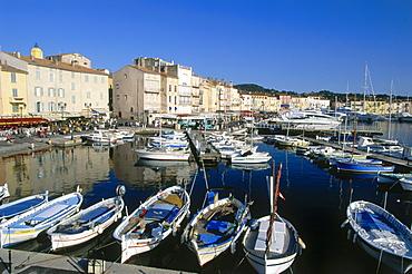 St. Tropez harbour, Cote d'Azur, Provence, France