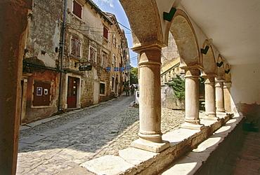 Detailed view of Groznjan, Istria, Croatia