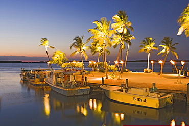 Islamorada Fish Company in the evening light, Florida, USA