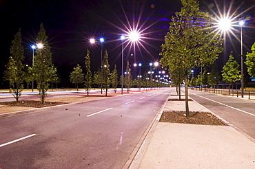 Empty street at night, Luxemburg