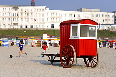 Historical changing room, Borkum, East Frisia, North Sea, Lower Saxony, Germany