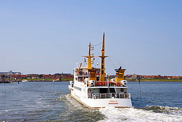 Ferry Boat, Juist, East Frisia, North Sea, Lower Saxony, Germany