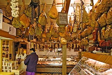 Italien, Toskana, Greve, Delikatessengeschäft Falorni
