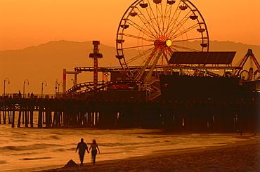 Santa Monica Beach, Santa Monica, L.A., Los Angeles, California, USA