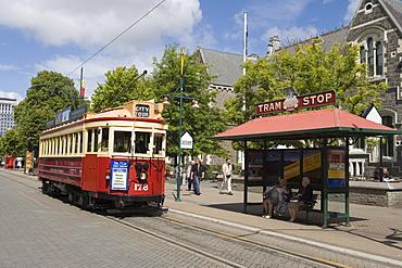 Christchurch Tram on Worcester Street, Christchurch, South Island, New Zealand