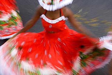 Exotic Dancers from Mauritius, Schlitz International Festival, Schlitzerlaender Trachten- und Heimatfest, Schlitz, Vogelsberg, Hesse, Germany