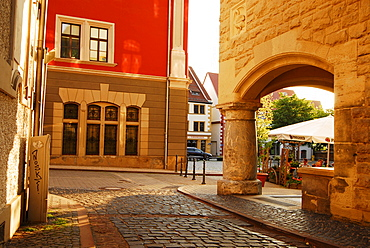 View of Gotha townhall in the evening light, Gotha, Thuringia, Germany