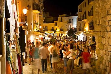 Dalt Vila, Old Town, Eivissa, Ibiza, Balearic Islands, Spain