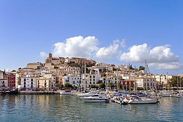 Harbour, Dalt Vila, Old Town, Eivissa, Ibiza, Balearic Islands, Spain