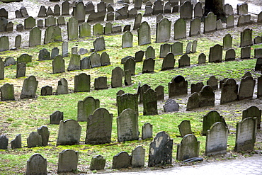 A cemetary, Old Granary Burial Grounds, Boston, Massachusetts, USA