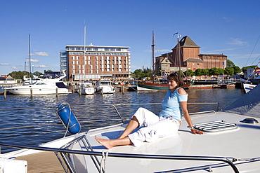 Hotel, Barth, Fischland, Darss, Zingst, Baltic Sea, Mecklenburg-Western Pomerania, Germany