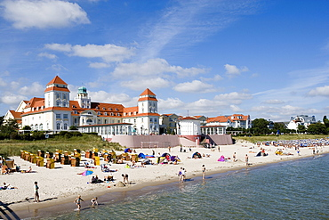 Spa Hotel, Binz, Ruegen, Baltic Sea, Mecklenburg-Western Pomerania, Germany