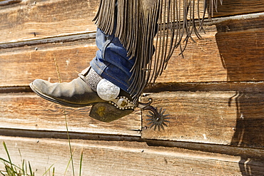 cowboy boots with spures, wildwest, Oregon, USA