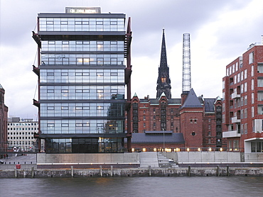Office block in the Harbour City, Hanseatic City of Hamburg, Germany