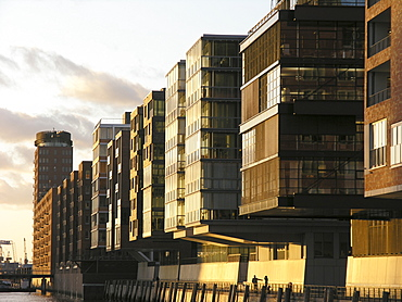 Office and Apartment Blocks in the Harbour City, Hanseatic City of Hamburg, Germany