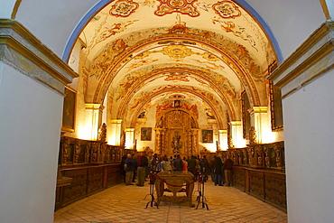 Interior view showing vestry, monastery, Monasterio de Yuso, San Millan de la Cogolla, La Rioja, Spain