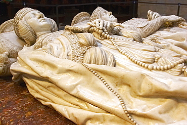 Chapel, Capilla del Condestable, tomb of Pedro Fernandez de Velasco and wife in Cathedral, Catedral Santa MarÃŒa, Burgos, Castilla Leon, Spain