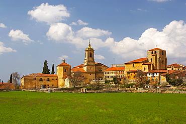 Benedictine monastery, Santo Domingo de Silos with view of the town, Castilla Leon, Spain