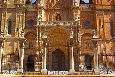 Architecture of Cathedral, Catedral Santa MarÃŒa, Astorga, Castilla Leon, Spain