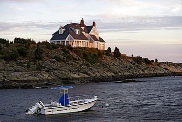 Exclusive homes on Ocean Drive in Newport, Rhode Island, United States of Ameica, USA
