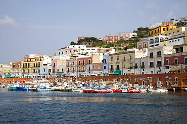 Ponza Marina and Colorful Houses, Ponza, Pontine Islands, Italy