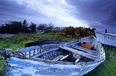 Fishing boats in Dog's Bay, Connemara, Co. Galway, Ireland, Europe