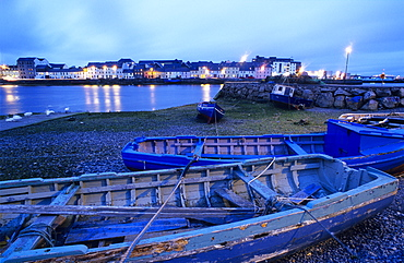 Fishing boats in the harbour, Galway, Co. Galway, Ireland, Europe