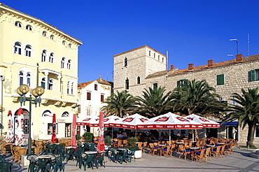 Pavement Cafe, Trg Municipium Arba, Rab, Rab island, bay of Kvarner, Croatia