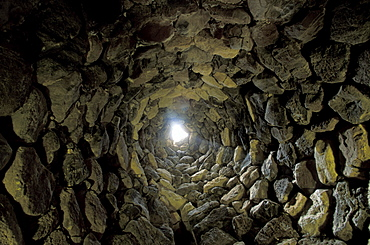 Inside Su Nuraxi, Barumini, Sardinia, Italy