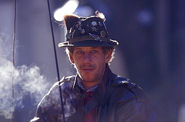 Portrait of a coachman, Kitzbuhel, Tyrol, Austria