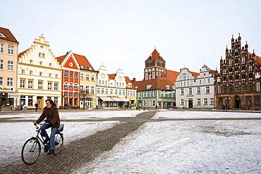 Marketplace, Greifswald, Mecklenburg-Vorpommern, Germany