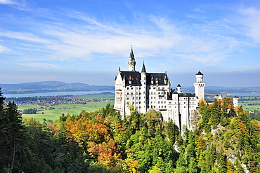 View of Neuschwanstein Castle, Oberallgaeu, Bavaria, Germany