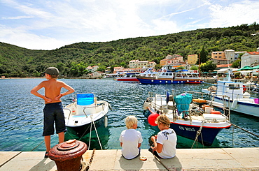 Valun harbour, Cres Island, Kvarnen Gulf, Croatia