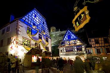 Christmas market and historic quarter, Kaysersberg, Alsace, France