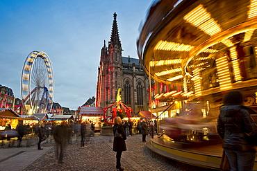 Christmas market and historic quarter, Mulhouse, Alsace, France