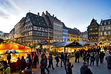Christmas market and historic quarter, Strasbourg, Alsace, France