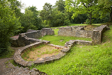 Gallo Roman temple excavation site, Sudelfels, Villa Rustica, Wallerfangen, district Ihn, Saarland, Germany, Europe
