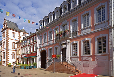 The Staadt-Marxsche Buergerhaus community center at the old town, Merzig, Saarland, Germany, Europe