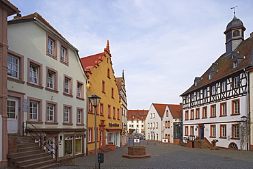Houses at the historic old town of Ottweiler, Saarland, Germany, Europe