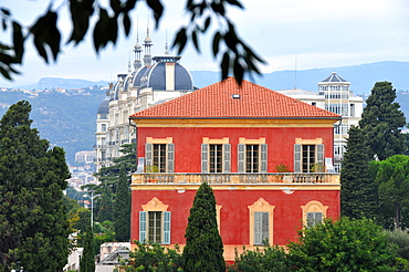 View of the Matisse museum, Nice, Cote d'Azur, South France, Europe
