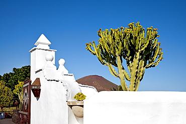 Exterior view of the museum Fundacion Cesar Manrique, Tahiche, Lanzarote, Canary Islands, Spain, Europe