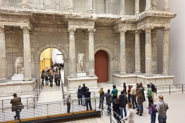 Pergamon Museum, Pergamon Altar, sculptures, visitors, Berlin, Germany