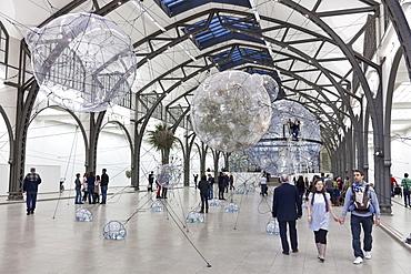 Hamburger Railway Station, Museum of Contemporary Art, exhibition Tomas Saraceno Cloud Cities, 15 September 2011 till 19 February 2012, Berlin, Germany