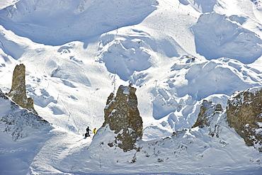 Mountain landscape in Winter, Tignes, Val d Isere, Savoie department, Rhone-Alpes, France
