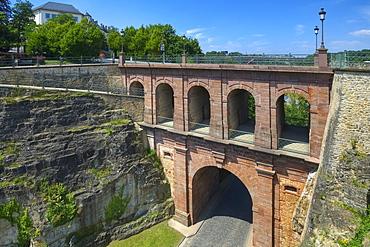 Bridge at the Bock rock, Luxemburg, Luxembourg, Europe