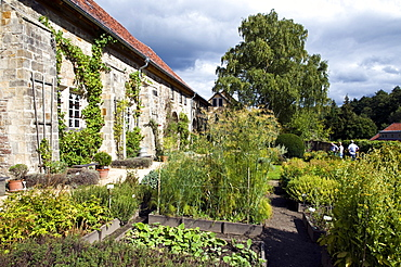 Abbey garden, Abbey Michaelstein, Blankenburg am Harz, Harz, Saxony-Anhalt, Germany