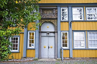 Entrance to manor in Zellerfeld, Clausthal-Zellerfeld, Harz, Lower Saxony, Germany