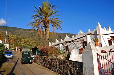 Alley in the Santa Marina municipality, Island of Salina, Aeolian Islands, Sicily, Italy